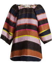 Apiece Apart - Nova Striped Linen Blend Top - Lyst