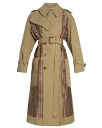 Alexander McQueen - Checked-back Belted Trench Coat - Lyst