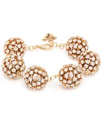 Rosantica By Michela Panero - Crystal Embellished Bracelet - Lyst