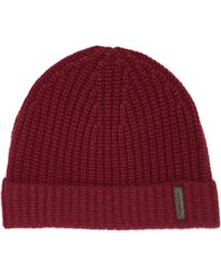 4f34a02d015 Burberry Stripe Knitted Beanie - For Men in Natural for Men - Lyst