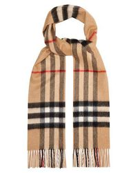 Burberry - Vintage-check Cashmere Scarf - Lyst