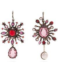 Alexander McQueen | Crystal-embellished Asymmetric Earrings | Lyst