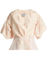 Thierry Colson - Mary Floral-print Silk Blouse - Lyst