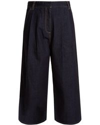 Tibi - Sam Wide Leg Cropped Jeans - Lyst