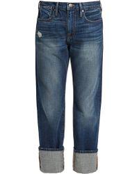 FRAME - Le Oversized Straight-leg Jeans - Lyst