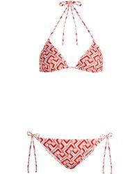 LaDoubleJ - Domino Valentino Print Bikini - Lyst
