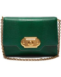 Dolce & Gabbana - Welcome Iguana Effect Leather Clutch - Lyst