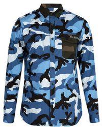 Valentino - Camouflage Cotton Shirt - Lyst