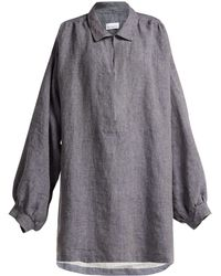Raey - Denim-linen Smock Dress - Lyst