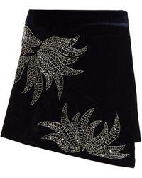 Dodo Bar Or - Paula Embellished Velvet Mini Skirt - Lyst