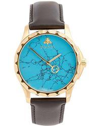 Gucci - Gg-timeless Blue-stone Watch - Lyst