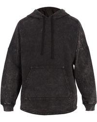 True Religion - Washed-cotton Hooded Sweatshirt - Lyst