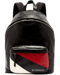 Givenchy - Urban Striped Pocket Leather Backpack - Lyst