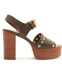 See By Chloé - Nora Leather Platform Sandals - Lyst