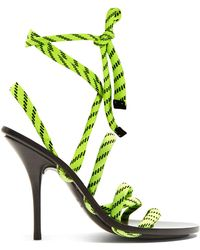 Balenciaga - Fluorescent Laced Wrap Around High Heeled Sandals - Lyst