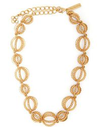 Oscar de la Renta - Crystal-embellished Globe Necklace - Lyst