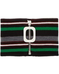 JW Anderson - Striped Knitted Merino Wool Neckband - Lyst