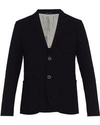 Giorgio Armani - Blazer en laine vierge à boutonnage simple - Lyst