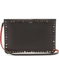 Christian Louboutin - Trashmix Spike-embellished Leather Clutch - Lyst