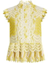 Erdem - Sam Degradé Guipure-lace Blouse - Lyst