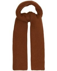 Thom Sweeney - Ribbed Knit Cashmere Scarf - Lyst