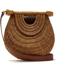 STAUD - Goldie Wicker Basket Bag - Lyst