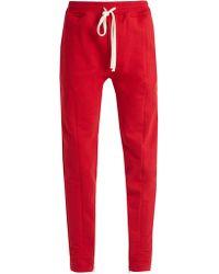 Fear Of God - Drawstring Waist Cotton Jersey Track Pants - Lyst