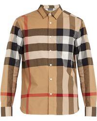 Burberry - Windsor Oversized Check Cotton Blend Shirt - Lyst