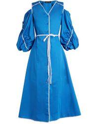 Anna October - Ric-rac Cotton-poplin Dress - Lyst