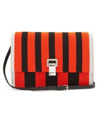 Proenza Schouler - Lunch Striped Leather Small Cross-body Bag - Lyst