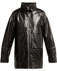 Helmut Lang - Leather Anorak Jacket - Lyst