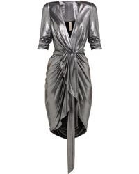 Maria Lucia Hohan - Adelyn Metallic Jersey Wrap Dress - Lyst