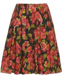 Emilia Wickstead - Polly Floral Print A Line Skirt - Lyst