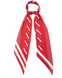 Rockins | Polka-print Classic Skinny Silk Scarf | Lyst