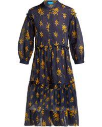 M.i.h Jeans - Robe en coton à imprimé floral Lyra - Lyst