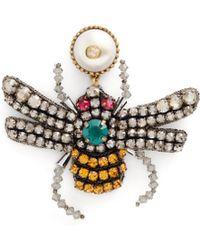 Gucci - Crystal-bee Earrings - Lyst
