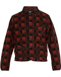 RRL - Plaid Jacquard Fleece Jacket - Lyst