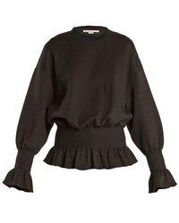 Stella McCartney - Ruffle-trimmed Cotton-blend Sweatshirt - Lyst