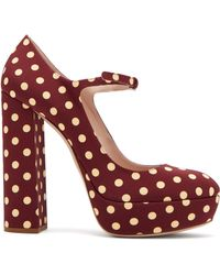 Miu Miu - Polka Dot Platform Mary Jane Court Shoes - Lyst