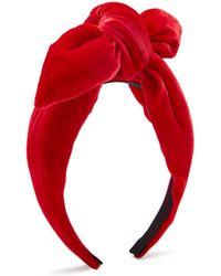 Benoit Missolin - Knotted Velvet Headband - Lyst