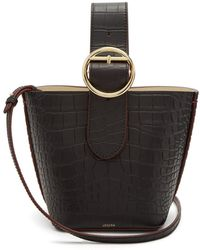 JOSEPH - Sevres Crocodile-effect Buckle-handle Leather Bag - Lyst