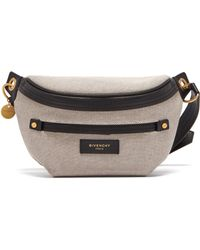 Givenchy - Whip Leather Trimmed Canvas Belt Bag - Lyst