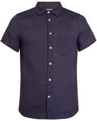 Frescobol Carioca - Point-collar Short-sleeve Linen Shirt - Lyst