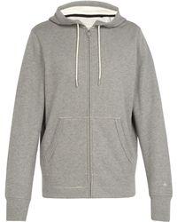 Rag & Bone - Zip-through Cotton Hooded Sweatshirt - Lyst