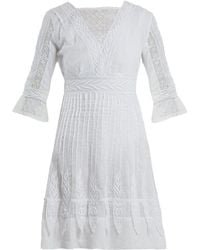 Talitha - Edwardian Floral-embroidered Cotton Dress - Lyst