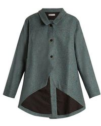 Palmer//Harding - Open-back Curved-hem Wool Jacket - Lyst