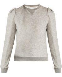 Adam Lippes - Pleated-shoulder Jersey Sweatshirt - Lyst