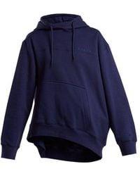 Martine Rose - Asymmetric-hem Cotton Hooded Sweatshirt - Lyst
