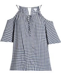 Velvet By Graham & Spencer - Nedra Cut-out Shoulder Gingham Top - Lyst
