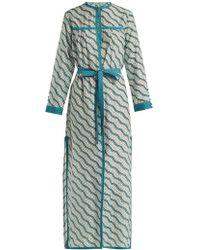 Talitha - Zigzag Printed Silk-cotton Robe - Lyst